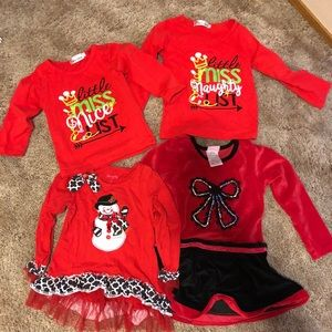 Other - Girls 3-4T Christmas outfits
